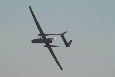 تحليق لطائرة استطلاع للعدو الاسرائيلي فوق قرى العرقوب