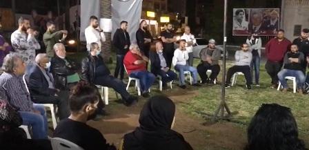 أسامة سعد في لقاء مع أهالي صيدا القديمة:  للتحرك في مواجهة الأوضاع المعيشية المأساوي