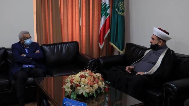 أسامة سعد يزور المفتي سوسان والتأكيد على أهمية العمل من أجل مواجهة الأزمات والانهيارات