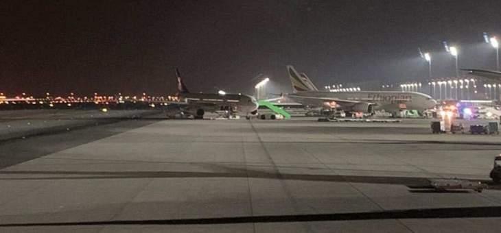 اصطدام بين طائرتين سعودية وإثيوبية بمطار الملك عبد العزيز الدولي بجدة
