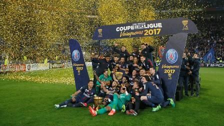 سان جيرمان يتوج بلقب كأس الرابطة الفرنسية للمرة السابعة