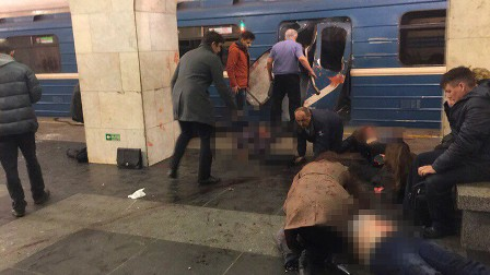 قتلى وجرحى جراء تفجير مزدوج في مترو سان بطرسبورغ