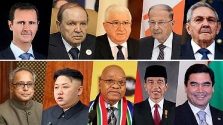 رؤساء 3 دول عربية و7 دول أجنبية يهنئون الأسد