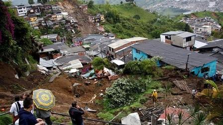 ارتفاع عدد ضحايا الانهيارات الأرضية في كولومبيا إلى 17 قتيلا