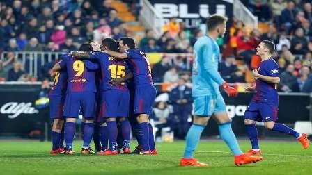 برشلونة يكتسح ريال مورسيا بخماسية في كأس إسبانيا