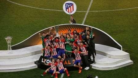 أتلتيكو مدريد يتوج بطلا للدوري الأوروبي.