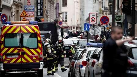 احتجاز رهائن من قبل مسلح في أحد أحياء باريس