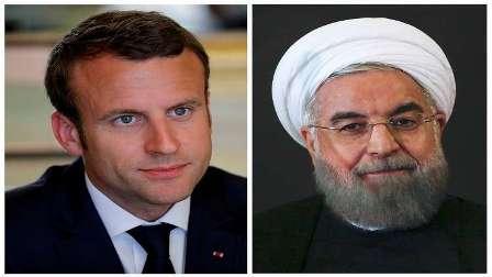 روحاني يبلغ ماكرون باستحالة بقاء إيران في الاتفاق النووي إذا لم تستفد منه