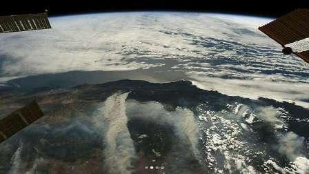 صور من الفضاء لحرائق كاليفورنيا المرعبة!