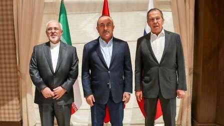 وزراء خارجية روسيا وتركيا وإيران يبحثون الوضع في إدلب