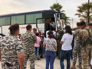 الانقاذ الشعبي في مؤسسة معروف سعد يشارك في عملية اعادة النازحين السوريين الى وطنهم
