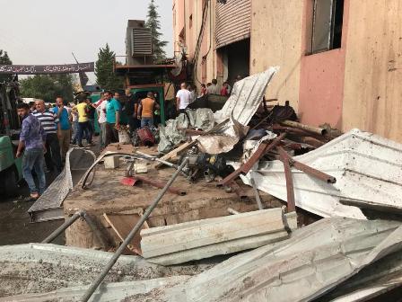 وفاة مواطنة واصابة خمسة بجروح بانفجار خزان مياة ساخنة في صير الغربية