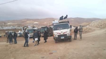 عودة دفعة جديدة من النازحين السوريين من عرسال الى سوريا