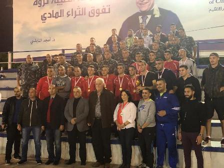 فوج اطفاء بيروت بطل كأس الاستقلال لكرة الصالات في AUCE