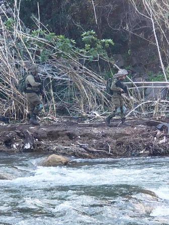 قوة من جيش العدو اجتازت الحدود عند الوزاني ونفذت عملية تمشيط
