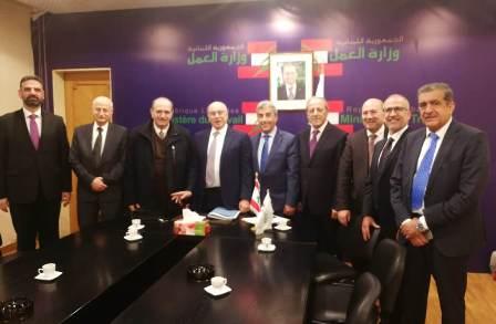 اتحاد نقابات موظفي المصارف زار ابو سليمان واطلعه على مفاوضات تجديد عقد العمل الجماعي