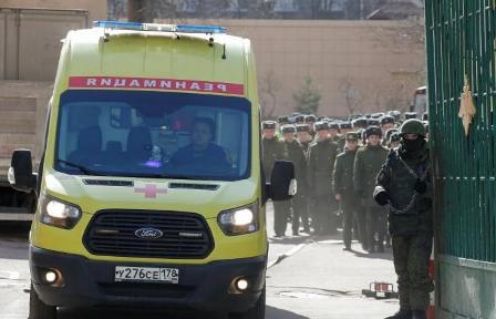 جرحى بانفجار عبوة في أكاديمية عسكرية في سان بطرسبورغ