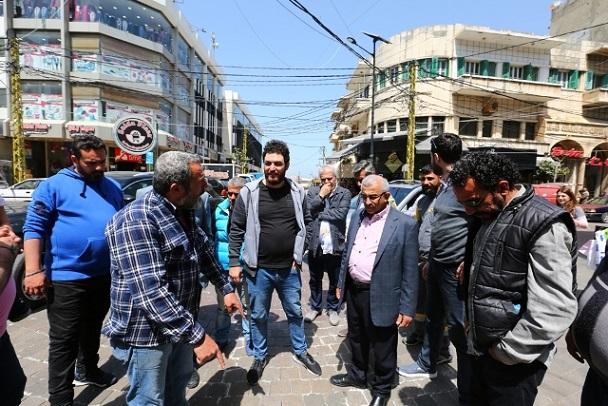 بالفيديو والصور ... أسامة سعد خلال جولة تفقدية لأحوال طرقات صيدا