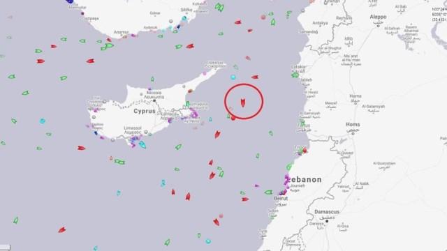 موقع تتبع السفن يرصد ناقلة النفط الإيرانية أدريان داريا 1 قبالة السواحل السورية