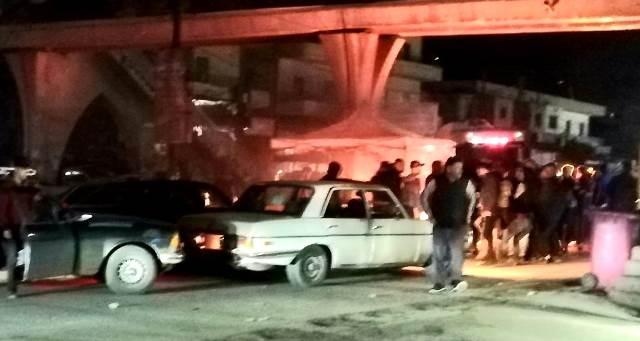 محتجون قطعوا طريق المنية العبدة احتجاجا على الاوضاع الاقتصادية الصعبة