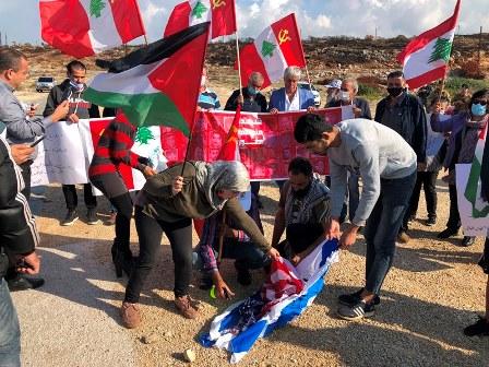 اعتصام للشيوعي في الناقورة رفضا للمفاوضات غير المباشرة مع العدو الاسرائيلي