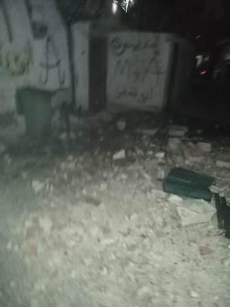سقوط قذيفة في شارع بستان اليهودي داخل مخيم عين الحلوة نتيجة الاشتباكات في المية ومية