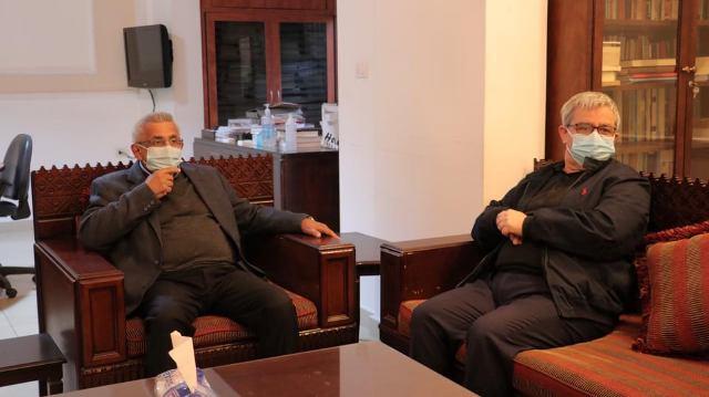 بالفيديو: تصريح الأمين العام للحزب الشيوعي اللبناني بعد اللقاء الذي جمعه بالأمين العام للتنظيم الشعبي الناصري في مقر التنظيم