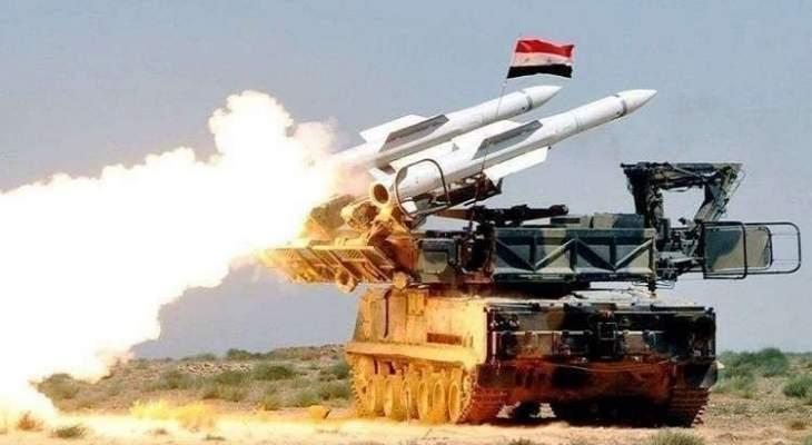 الدفاعات الجوية السورية تتصدى لعدوان بريف حلب الشرقي