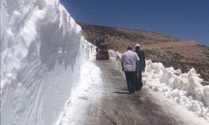 طريق شبعا - راشيا عبر وادي جنعم مقطوعة بسبب سماكة الثلوج