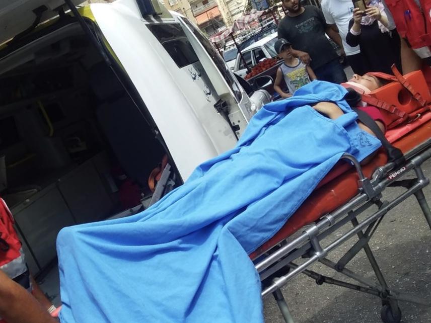 إصابة فتاة في حادث صدم في مدينة صيدا