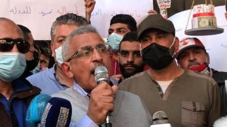 أسامة سعد في ختام التظاهرة الشعبية الحاشدة في صيدا: -اقول للشباب لا تُحبطوا انتم المنتصرون على كل قوى الظلام والرجعية