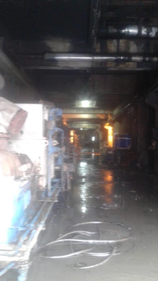 بالصور- إخماد حريق داخل معمل الجية الحراري