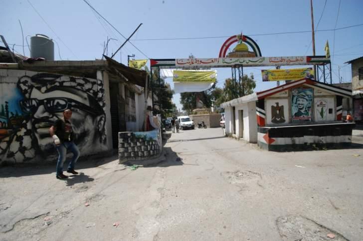 اجراءات امنية عند مدخل مخيم عين الحلوة للحفاظ على الامن