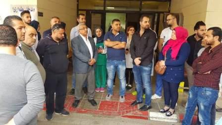 بالصور..أسامة سعد يزور مستشفى صيدا الحكومي متضامناً مع عاملي المستشفى المعتصمين