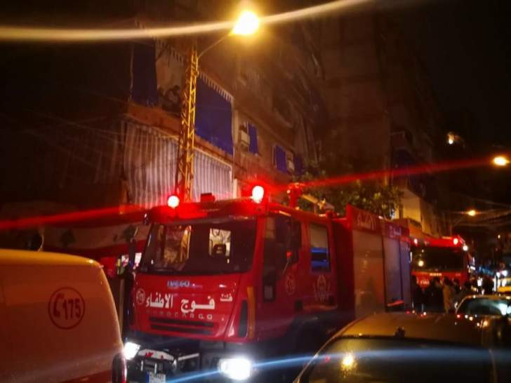 بلدية بيروت: فوج الإطفاء سيطر على حريق في الزيدانية أوقع 6 جرحى