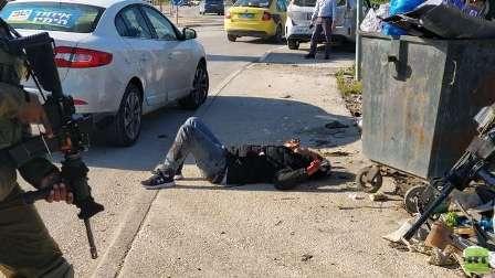 إطلاق النار على فلسطيني جنوب نابلس بذريعة محاولة طعن
