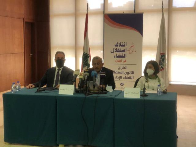 أسامة سعد خلال المؤتمر الصحفي للإعلان عن تقديم اقتراح قانون استقلال القضاء الإداري: السلطة القضائية المستقلة هي من أسس الدولة المدنية الحديثة العادل