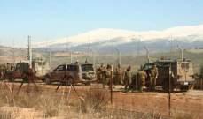 دورية تفقدية لقوات العدو ما بين تلال الوزاني ووادي العسل ومراقبة لبنانية دولية
