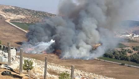 القصف المدفعي الاسرائيلي مستمر على اطراف بلدة مارون الراس