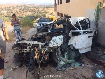 قتيلان وجريح نتيجة تصادم بين سيارتين على طريق عام القبيات محلة الدوسة