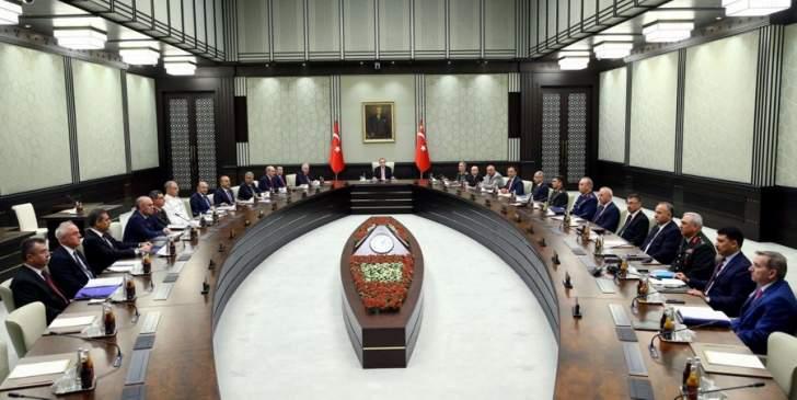 مجلس الامن القومي التركي يوصي بتمديد حالة الطوارئ ثلاثة أشهر