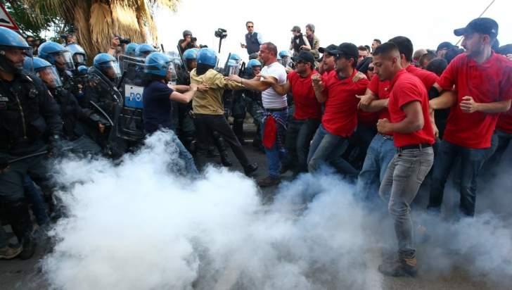 اشتباكات بين الشرطة الإيطالية ومتظاهرين معارضين لقرارات مجموعة السبع