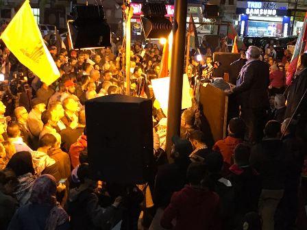 صور من الاعتصام الذي أقيم في ساحة النجمة نصرة للقدس والكفاح الفلسطيني