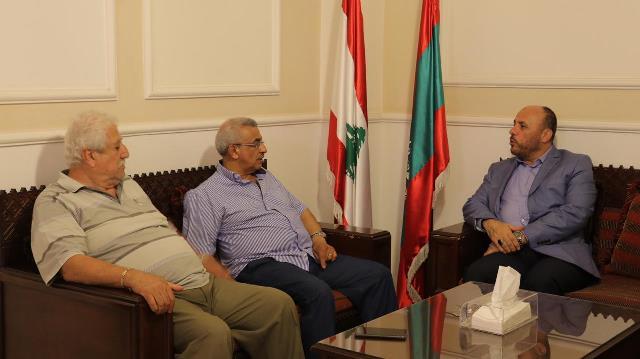 أسامة سعد بحث مع وفد من قيادة حركة حماس الأوضاع في الأرض المحتلة  والمشاكل التي يعاني منها الفلسطينيون في لبنان