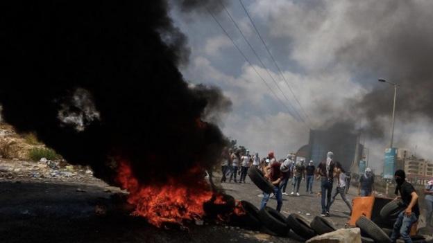 البيرة: إصابة خطيرة لشاب خلال مواجهات بين الاحتلال ومتظاهرين  تاريخ النشر: 09/09/2019 -