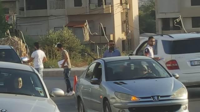 وحدة الشرحبيل في التنظيم الشعبي الناصري واللجنة الشعبية تقومان بتوزيع  بيان لجنة المتابعة لمشكلات الكهرباء والمولدات