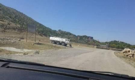 النشرة: قوة  للعدو الاسرائيلي  تتفقد السياج الحدودي على طول الخط الازرق