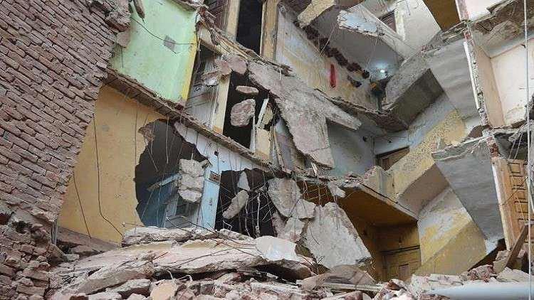 قتيلان وإصابات بسبب إنهيار مبنى في القاهرة!