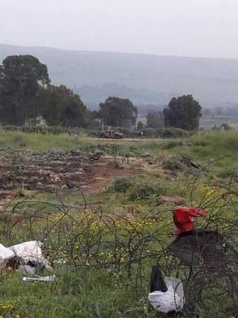 دورية اسرائيلية تفقدت السياج التقني في الجزء المحتل من العباسية