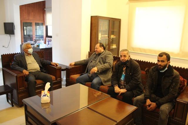 اسامة سعد يستقبل وفدا من حزب الوفاء اللبناني